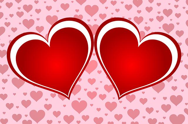 dvě srdce